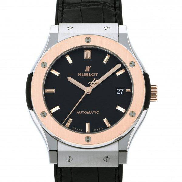 ウブロ HUBLOT クラシックフュージョン チタニウム キングゴールド 511.NO.1181.LR ブラック文字盤 メンズ 腕時計 【新品】