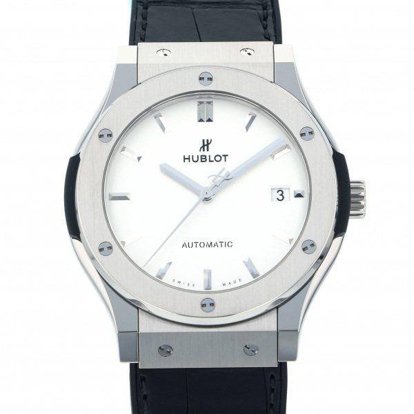ウブロ HUBLOT クラシックフュージョン チタニウム オパリン 511.NX.2611.LR シルバー文字盤 メンズ 腕時計 【新品】