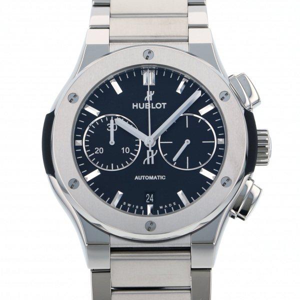 ウブロ HUBLOT クラシックフュージョン チタニウム クロノグラフ ブレスレット 520.NX.1170.NX ブラック文字盤 メンズ 腕時計 【新品】