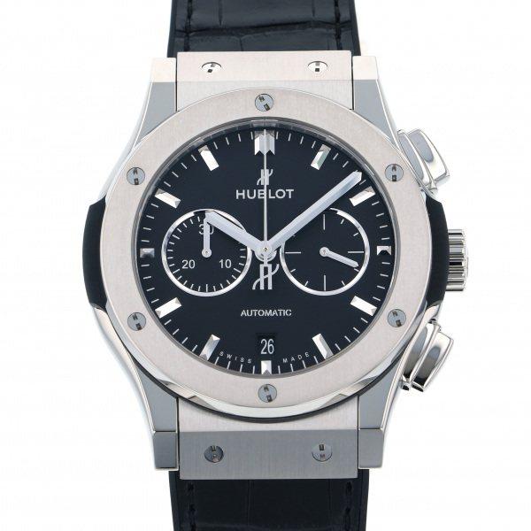 ウブロ HUBLOT クラシックフュージョン チタニウム クロノグラフ 541.NX.1171.LR ブラック文字盤 メンズ 腕時計 【新品】
