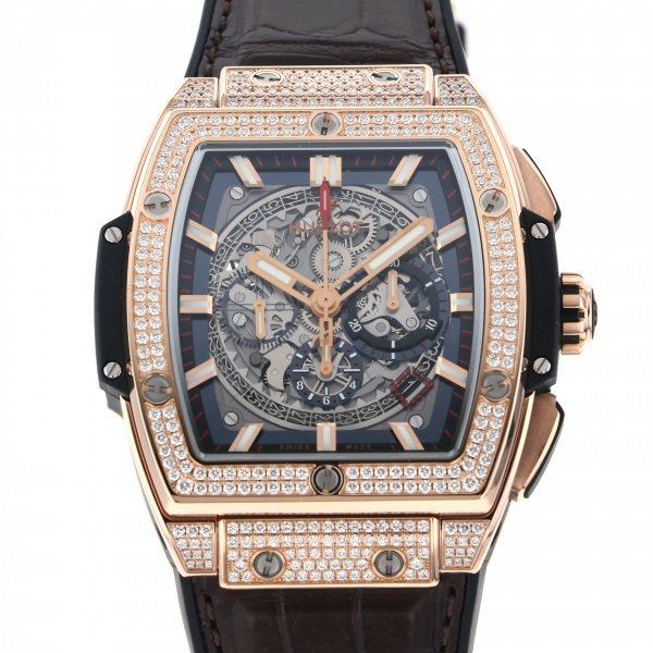 ウブロ HUBLOT スピリット・オブ・ビッグバン キングゴールド パヴェ 601.OX.0183.LR.1704 シルバー文字盤 メンズ 腕時計 【新品】