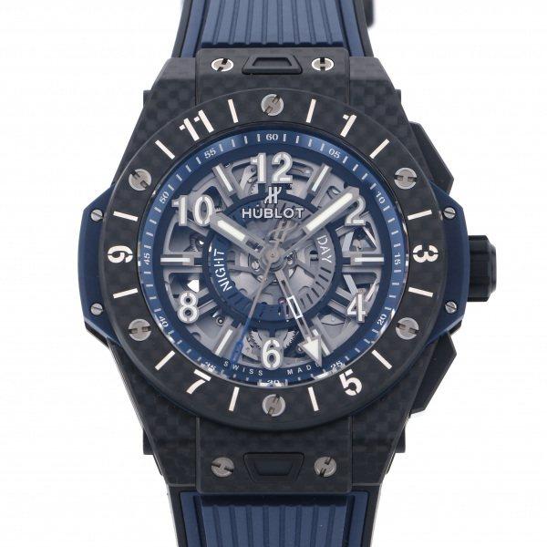 ウブロ HUBLOT ビッグバン ウニコ GMT カーボン 471.QX.7127.RX ブルー文字盤 メンズ 腕時計 【新品】