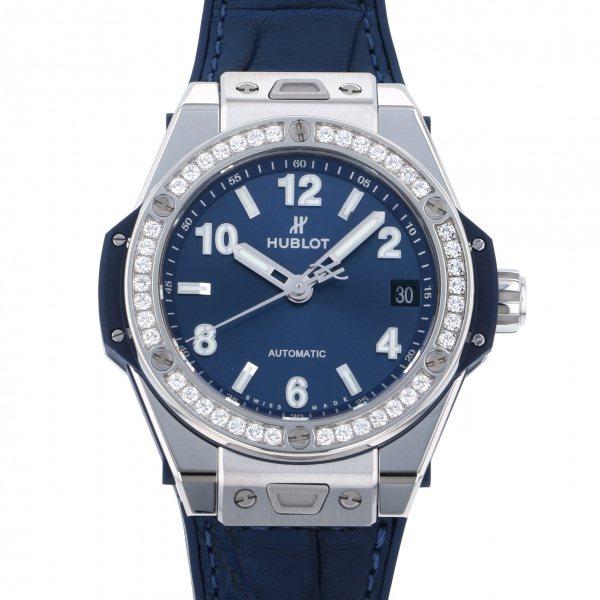 ウブロ HUBLOT ビッグバン ワンクリック スチール ブルー ダイヤモンド 465.SX.7170.LR.1204 ブルー文字盤 レディース 腕時計 【新品】