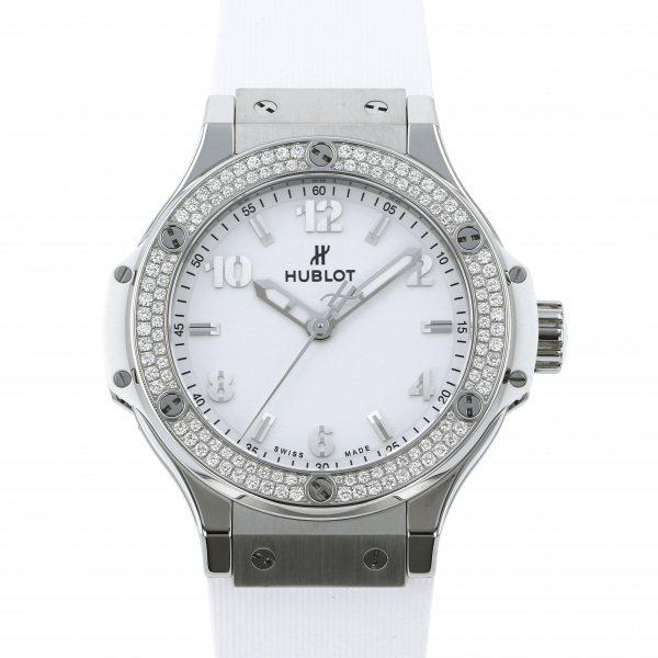 ウブロ HUBLOT ビッグバン スチール ホワイト ダイヤモンド 361.SE.2010.RW.1104 ホワイト文字盤 レディース 腕時計 【中古】