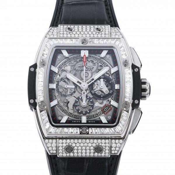 ウブロ HUBLOT スピリット・オブ・ビッグバン チタニウム ジュエリー 641.NX.0173.LR.0904 グレー文字盤 メンズ 腕時計 【中古】