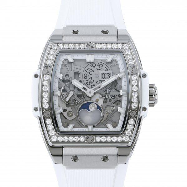ウブロ HUBLOT スピリット・オブ・ビッグバン ムーンフェイズ チタニウム ダイヤモンド 647.NE.2070.RW.1204 グレー文字盤 メンズ 腕時計 【新品】
