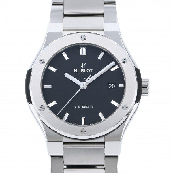 ウブロ HUBLOT クラシックフュージョン チタニウム ブレスレット 548.NX.1170.NX ブラック文字盤 メンズ 腕時計 【新品】