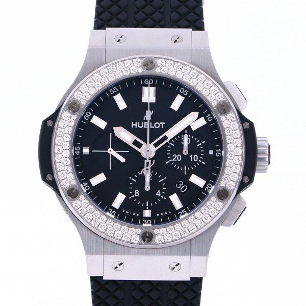 ウブロ HUBLOT ビッグバン スチール ダイヤモンド 301.SX.1170.GR.1104 ブラック文字盤 メンズ 腕時計 【中古】