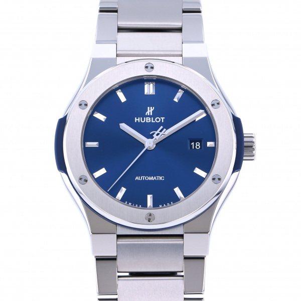 ウブロ HUBLOT クラシックフュージョン チタニウム 548.NX.7170.NX ブルー文字盤 メンズ 腕時計 【新品】