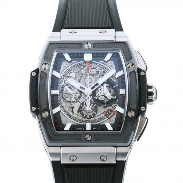 ウブロ HUBLOT スピリット・オブ・ビッグバン チタニウム セラミック 601.NM.0173.LR グレー文字盤 メンズ 腕時計 【中古】