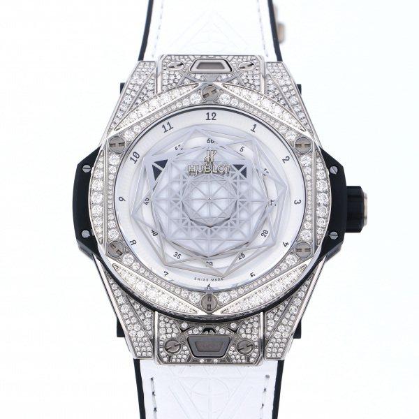 2021高い素材  ウブロ HUBLOT ビッグバン ウニコ サンブルー チタニウム ホワイト パヴェ 415.NX.2027.VR.1704.MXM18 ホワイト文字盤 新品 腕時計 メンズ, クリッパーショップ 84dd2863