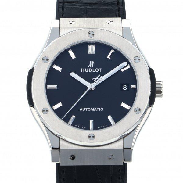 ウブロ HUBLOT クラシックフュージョン チタニウム 511.NX.1171.LR ブラック文字盤 メンズ 腕時計 【新品】