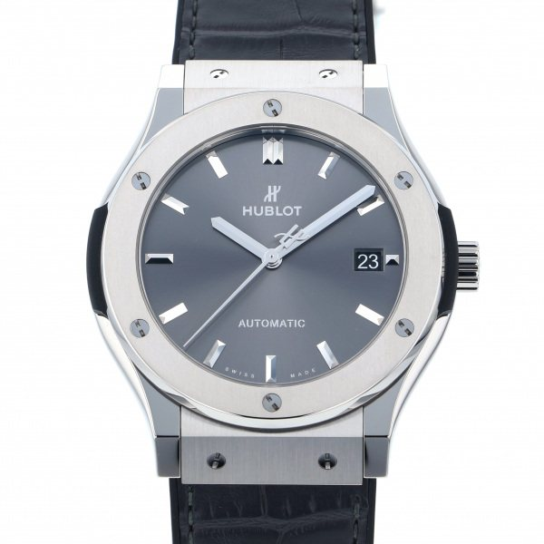 ウブロ HUBLOT クラシックフュージョン チタニウム レーシンググレー 511.NX.7071.LR グレー文字盤 メンズ 腕時計 【新品】