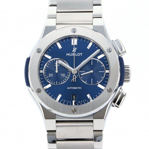 ウブロ HUBLOT クラシックフュージョン チタニウム クロノグラフ ブレスレット 520.NX.7170.NX ブルー文字盤 メンズ 腕時計 【新品】