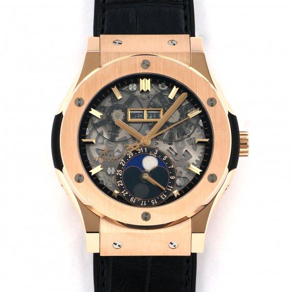 ウブロ HUBLOT クラシックフュージョン アエロフュージョン ムーンフェイズ キングゴールド 517.OX.0180.LR グレー/シルバー文字盤 メンズ 腕時計 【新品】