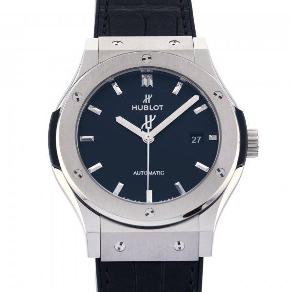 ウブロ HUBLOT クラシックフュージョン チタニウム 542. NX.1171.LR ブラック文字盤 メンズ 腕時計 【中古】
