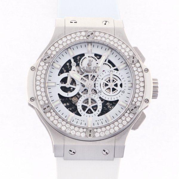 ウブロ HUBLOT ビッグバン オールホワイト ダイヤモンド 311.SE.2010.RW.1104.JSM12 ホワイト文字盤 メンズ 腕時計 【中古】