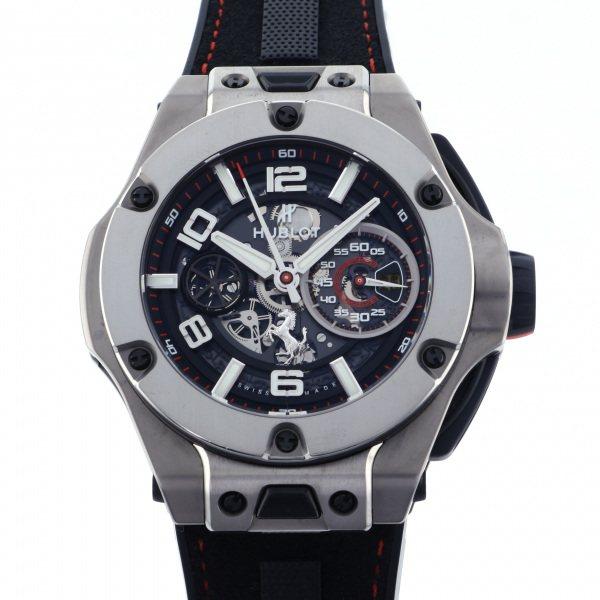 ウブロ HUBLOT ビッグバン フェラーリ チタニウム 402.NX.0123.WR ブラック文字盤 メンズ 腕時計 【中古】