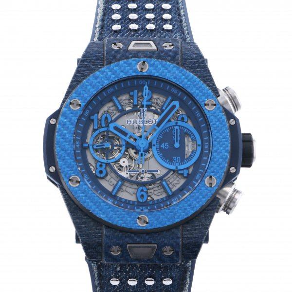 ウブロ HUBLOT ビッグバン ウニコ イタリア インデペンデント ブルー 世界限定500本 411.YL.5190.NR.ITI15 グレー文字盤 メンズ 腕時計 【中古】