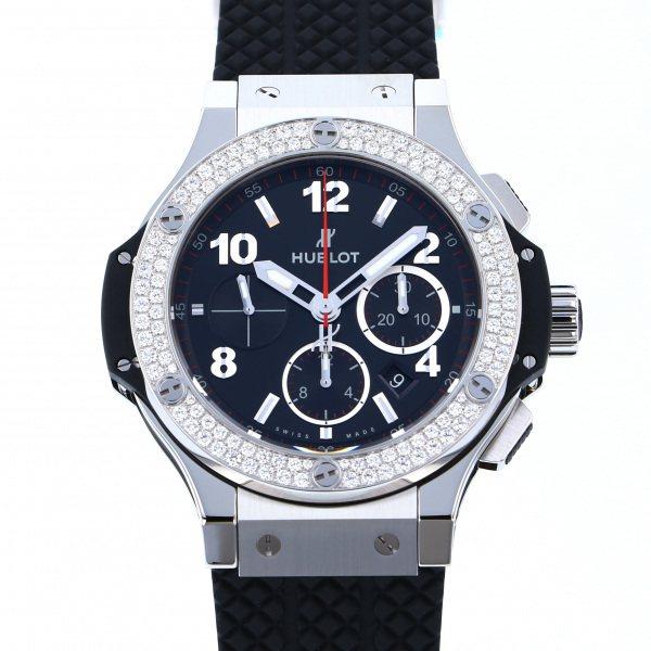 ウブロ HUBLOT ビッグバン スチール ダイヤモンド 301.SX.130.RX.114 ブラック文字盤 メンズ 腕時計 【新品】