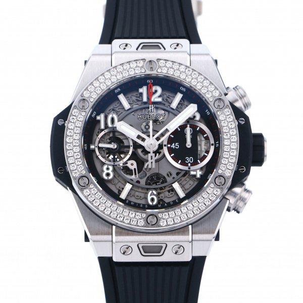 ウブロ HUBLOT ビッグバン ウニコ チタニウム ダイヤモンド 441.NX.1170.RX.1104 グレー文字盤 メンズ 腕時計 【新品】