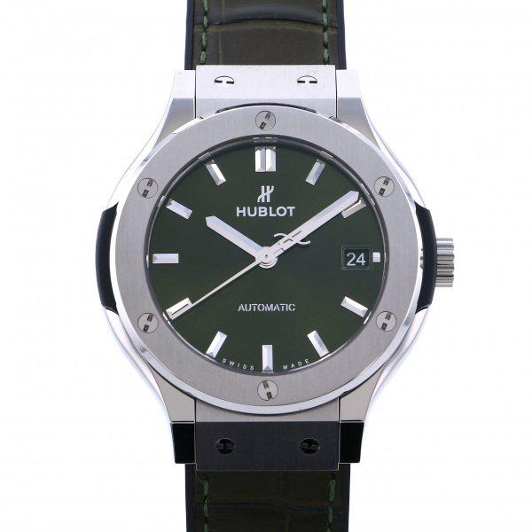 ウブロ HUBLOT クラシックフュージョン チタニウム グリーン 565.NX.8970.LR グリーン文字盤 レディース 腕時計 【新品】