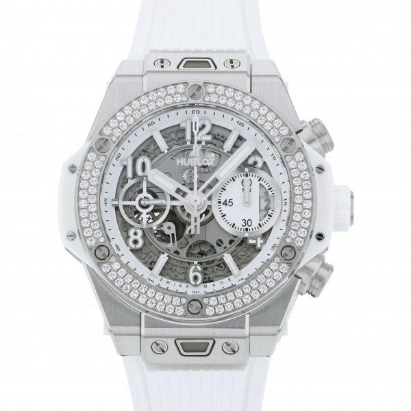 ウブロ HUBLOT ビッグバン ウニコ チタニウム ホワイト ダイヤモンド 441.NE.2010.RW.1104 グレー文字盤 メンズ 腕時計 【新品】