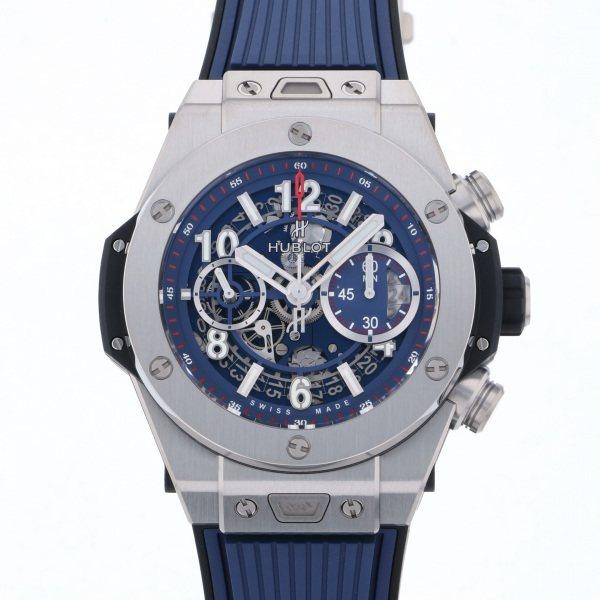 ウブロ HUBLOT ビッグバン ウニコ チタニウム ブルー 411.NX.5179.RX ブルー文字盤 メンズ 腕時計 【新品】