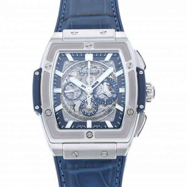 ウブロ HUBLOT スピリット・オブ・ビッグバン チタニウム ブルー 601.NX.7170.LR グレー文字盤 メンズ 腕時計 【新品】