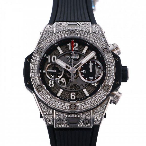 ウブロ HUBLOT ビッグバン ウニコ チタニウム パヴェ 441.NX.1170.RX.1704 グレー文字盤 メンズ 腕時計 【新品】