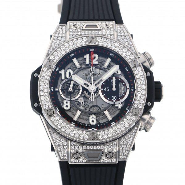 ウブロ HUBLOT ビッグバン ウニコ チタニウム パヴェ 411.NX.1170.RX.1704 グレー文字盤 メンズ 腕時計 【新品】