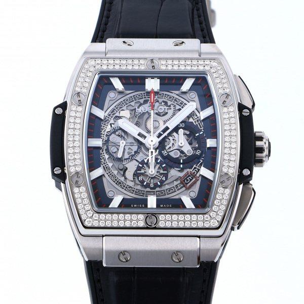 ウブロ HUBLOT スピリット・オブ・ビッグバン チタニウム ダイヤモンド 601.NX.0173.LR.1104 シルバー文字盤 メンズ 腕時計 【新品】
