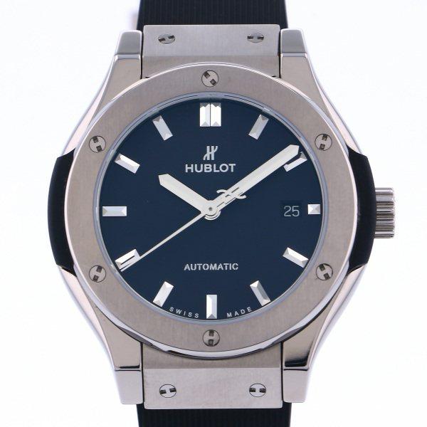 ウブロ HUBLOT クラシックフュージョン チタニウム 582.NX.1170.RX ブラック文字盤 新品 腕時計 レディース 送料無料 謝礼 クからトレドまで幅広いアイテムを提案! キャッシュレス5%還元対象
