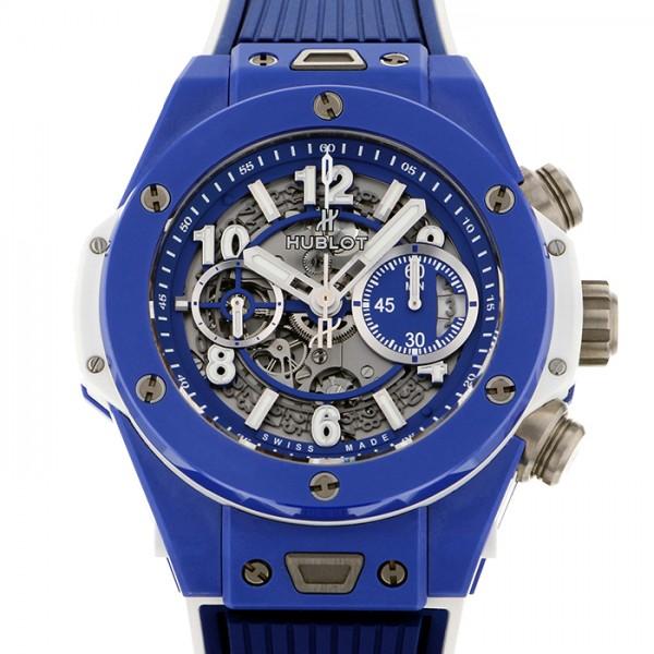 ウブロ HUBLOT ビッグバン ウニコ ブルー 100本限定 411.EX.5129.RX グレー文字盤 メンズ 腕時計 【新品】