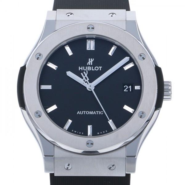 ウブロ HUBLOT クラシックフュージョン チタニウム 511.NX.1171.RX ブラック文字盤 メンズ 腕時計 【新品】