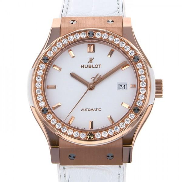 ウブロ HUBLOT クラシックフュージョン キングゴールド ホワイトダイヤモンド 542.OE.2080.LR.1204 ホワイト文字盤 メンズ 腕時計 【新品】