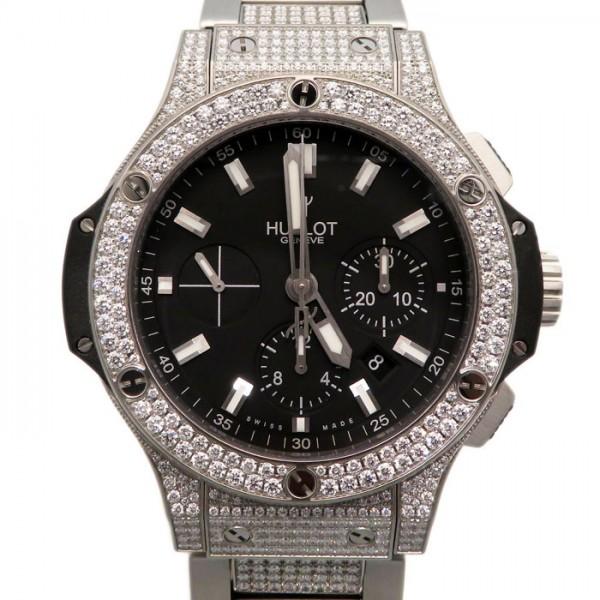 ウブロ HUBLOT ビッグバン エボリューション パヴェ ブレスレット 301.SX.1170.SX.2704 ブラック文字盤 メンズ 腕時計 【新品】