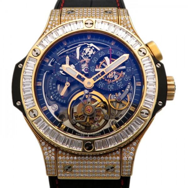 ウブロ HUBLOT ビッグバン トゥールビヨン ベゼルバケットダイヤ 308.PX.130.RX.094 ブラック文字盤 メンズ 腕時計 【中古】