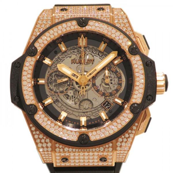 5e26921bf4c7 ウブロ HUBLOT キングパワー ウニコ 701.OX.0180.RX.1704 メンズ 腕時計 【新品】 グレースケルトン文字盤-メンズ腕時計