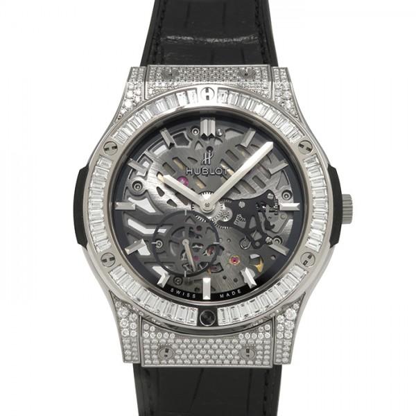 ウブロ HUBLOT クラシックフュージョン クラシコ ウルトラシン チタニウム ジュエリー 515.NX.0170.LR.0904 グレー文字盤 メンズ 腕時計 【新品】