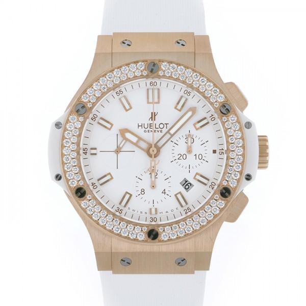 ウブロ HUBLOT ビッグバン エボリューション ベゼルダイヤ 301.PE.2180.RW ホワイト文字盤 メンズ 腕時計 【中古】