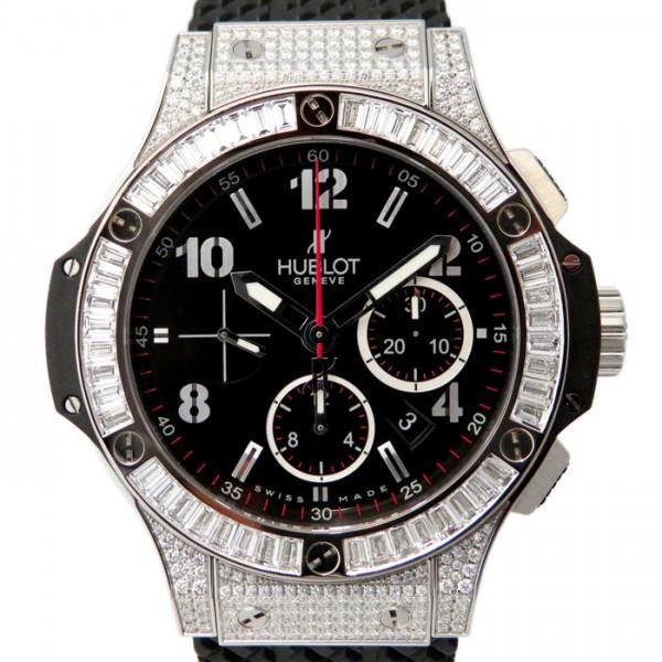 ウブロ HUBLOT ビッグバン スティール バケットダイヤモンド 301.SW.130.RX.094 ブラック文字盤 メンズ 腕時計 【新品】