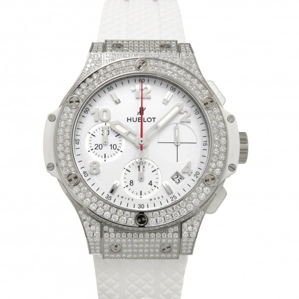 HUBLOT 【新品】 ホワイト文字盤 メンズ 腕時計 ホワイトパヴェ 342.SE.230.RW.174 ビッグバン スチール ウブロ