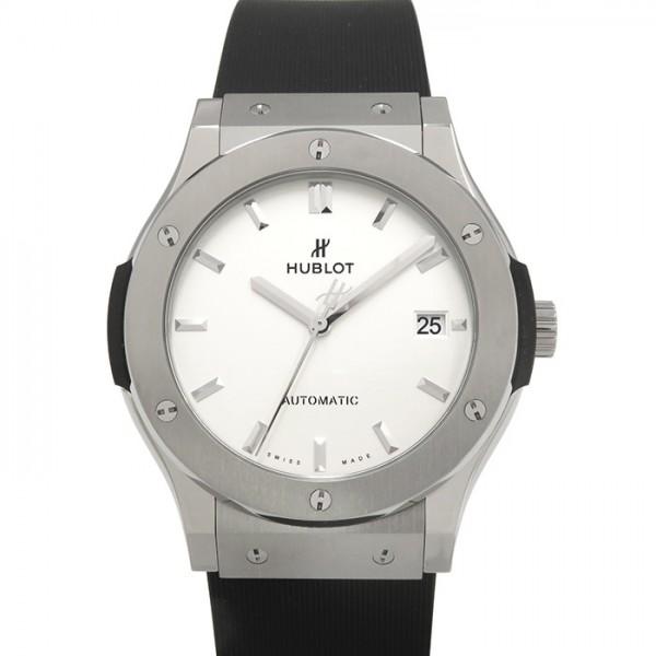 ウブロ HUBLOT クラシックフュージョン オパーリンチタニウム 511.NX.2611.RX ホワイト文字盤 メンズ 腕時計 【新品】
