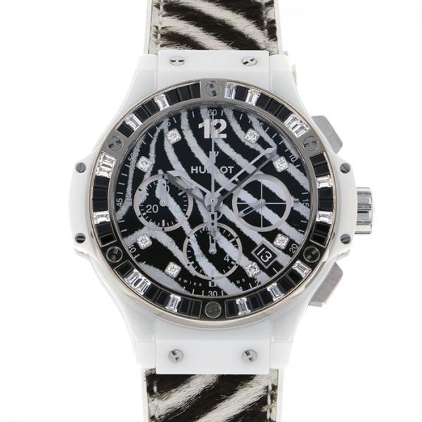 ウブロ HUBLOT ビッグバン ゼブラホワイト 世界限定250本 341.HW.7517.VR.1975 ブラック文字盤 レディース 腕時計 【新品】