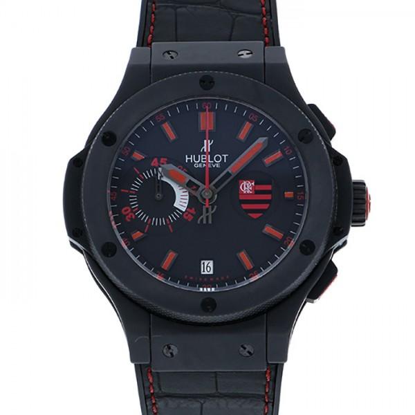 【全品 ポイント10倍 4/9~4/16】ウブロ HUBLOT ビッグバン フラメンゴバン 318.CI.1123.GR.FLM11 ブラック文字盤 メンズ 腕時計 【中古】