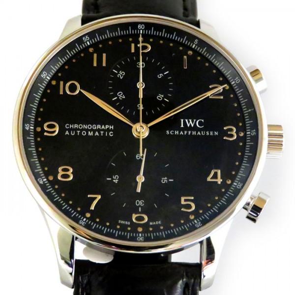 IWC IWC ポルトギーゼ クロノグラフ IW371447 ブラック文字盤 メンズ 腕時計 【新品】