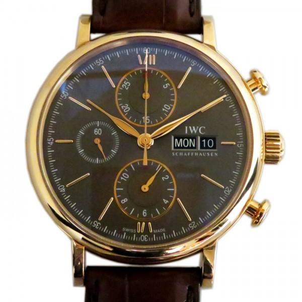 IWC IWC ポートフィノ クロノグラフ IW391021 ブラック文字盤 メンズ 腕時計 【新品】