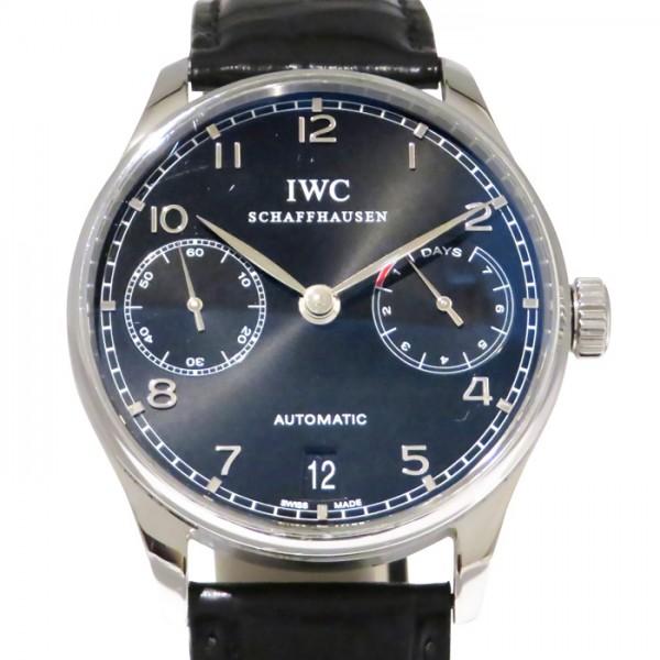 IWC IWC ポルトギーゼ オートマティック 7デイズ IW500109 ブラック文字盤 メンズ 腕時計 【中古】