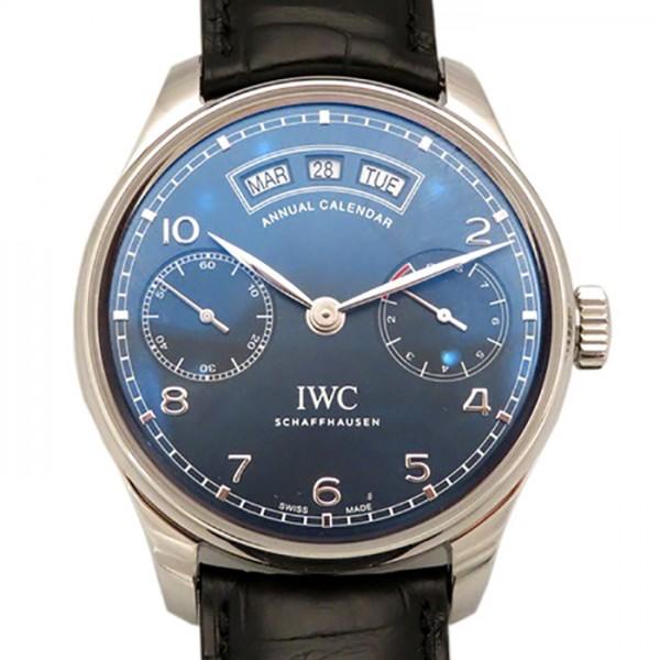 IWC IWC ポルトギーゼ アニュアル カレンダー IW503502 ネイビー文字盤 メンズ 腕時計 【新品】
